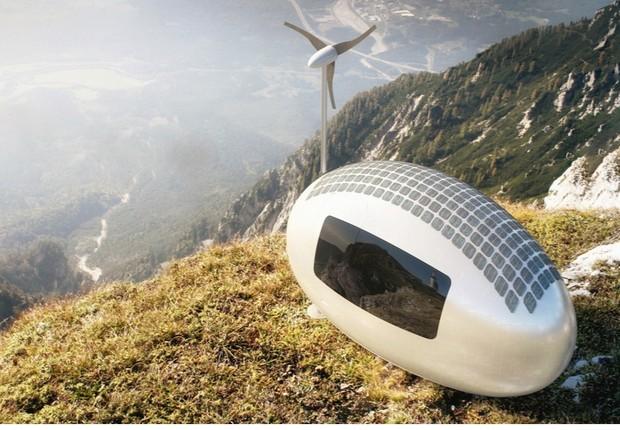 More em qualquer lugar com esta casa-cápsula, autossuficiente em água e energia