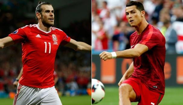 País de Gales e Portugal duelam na quinta, dia 06 (Foto: Reprodução / Globo Esporte)