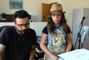 Pérola Crepaldi The Voice Kids aula de música (Foto: Arquivo pessoal)