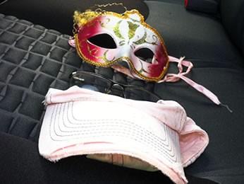 Suspeito tem problemas mentais e tentou usar máscara para esconder o rosto durante ataque (Foto: Dhiego Maia/GLOBOESPORTE.COM)