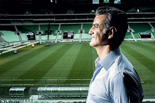 """Bourgeois, no novo estádio do Palmeiras: o algoritmo conseguiu """"prever"""" os últimos Brasileirões   (Foto: Guilherme Zauith)"""