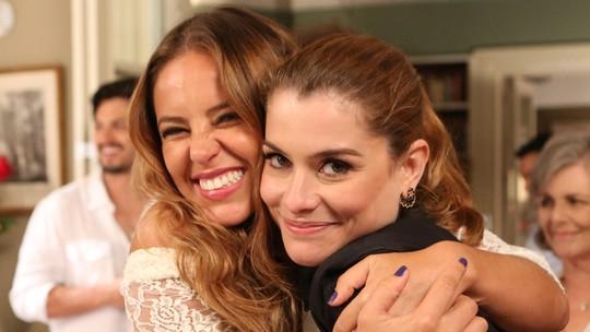 Paolla Oliveira, Alinne Moraes e elenco se despedem de 'Além do Tempo' com 'dancinha'