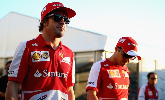 Fernando Alonso, Felipe Massa, Ferrari, 2013 (Foto: Getty Images)