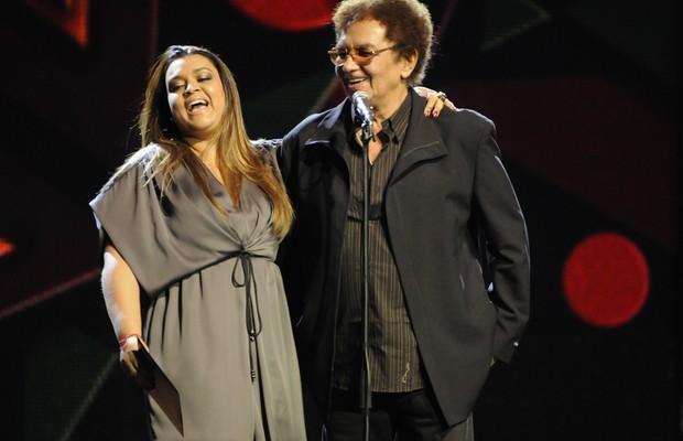 Preta Gil e Reginaldo Rossi, durante apresentação no Rio de Janeiro, em agosto de 2009 (Foto: Fabio Cordeiro / Editora Globo)