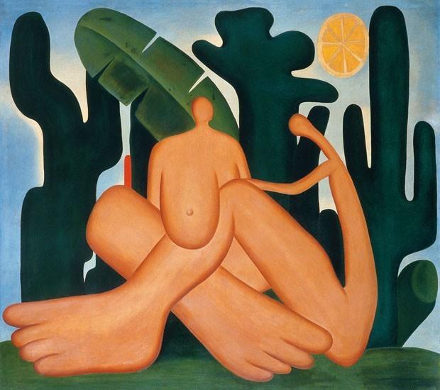 """O quadro """"Antropofagia"""" fará parte da exposição de Tarsila no MoMA, que ficará em cartaz até 3 de junho deste ano (Foto: divulgação)"""