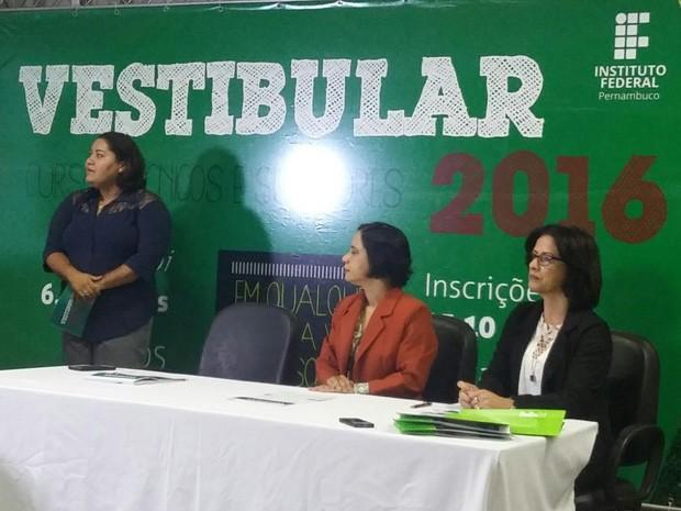IFPE divulga datas do vestibular 2016 e criação de dois novos cursos  (Foto: Cacyone Gomes/ TV Globo )
