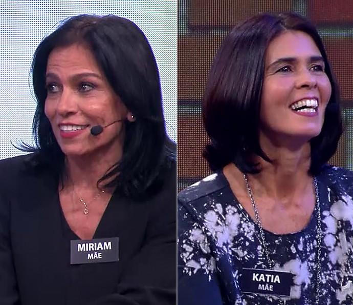 À esquerda, a mãe de Anitta; à direita, a do Arthur! (Foto: TV Globo)