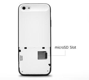 Capa para iPhone traz entrada microSD e permite usar o chip anti-espionagem (Foto: Divulgação/FGX)