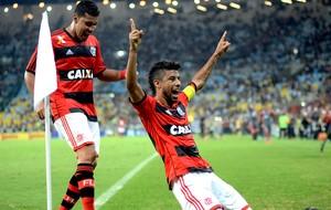 Leo Moura gol Flamengo jogo Botafogo Copa do Brasil (Foto: André Durão / Globoesporte.com)