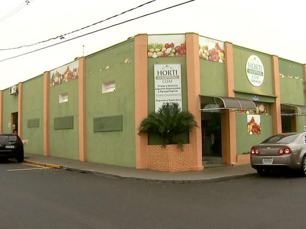 Sede da Cooperativa de Agricultura Orgânica Familiar (Coaf) em Bebedouro (Foto: Reprodução/EPTV)