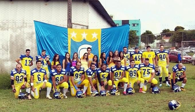Gladiadores, de Pouso Alegre (MG), tentam a contratação de um jogador norte-americano para a temporada 2015 (Foto: Reprodução EPTV)
