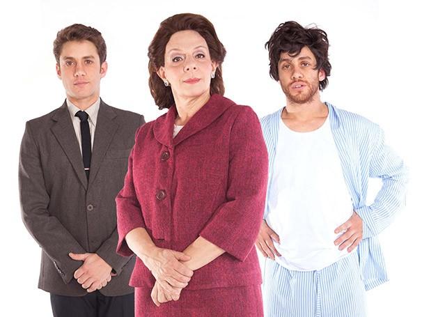 Os irmãos gêmeos interpretados por Leonardo Miggiorin em 'La Mamma' (Foto: Paulo Emílio Lisboa)