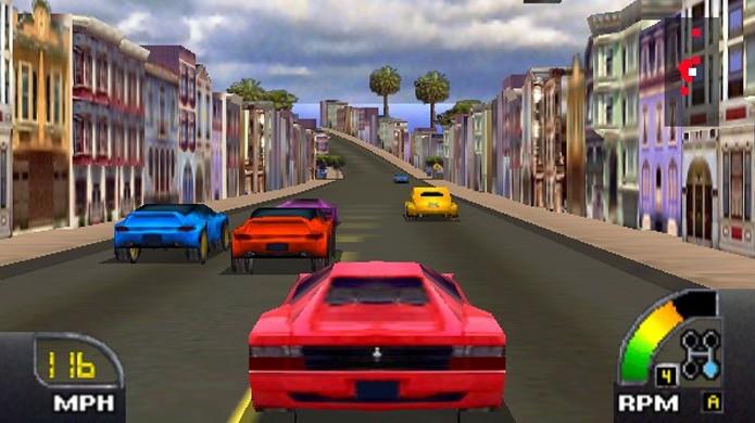 Cruisn USA simbolizou a entrada em uma época de horizontes 3D como os de Horizon Chase (Foto: Reprodução/Vizzed)