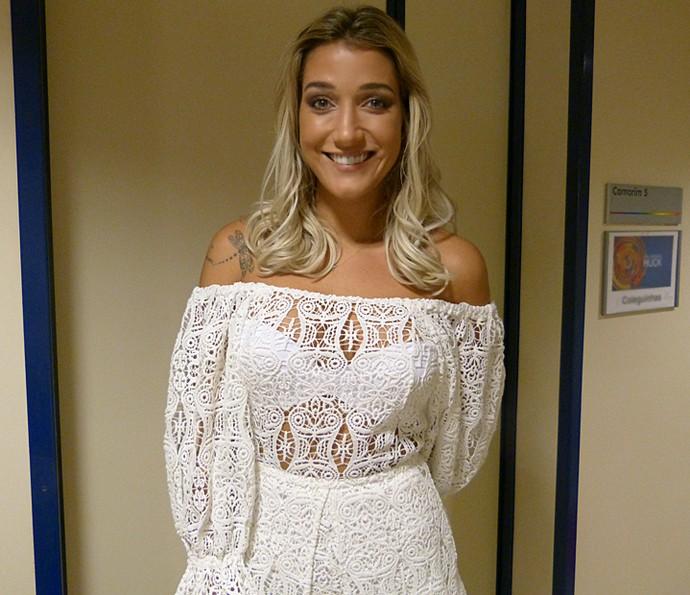 Gabriela Pugliesi investiu na sensualidade da renda  (Foto: Talita Mendes / Gshow)