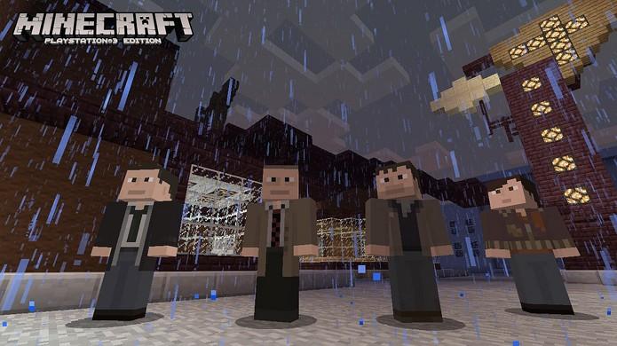 Personagens de Heavy Rain em Minecraft se sentirão em casa com o novo City Texture Pack (Foto: PlayStation Blog)