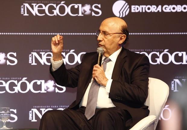 O ministro da Fazenda, Henrique Meirelles participa de talk show durante o Época NEGÓCIOS 360° (Foto: Ricardo Cardoso)