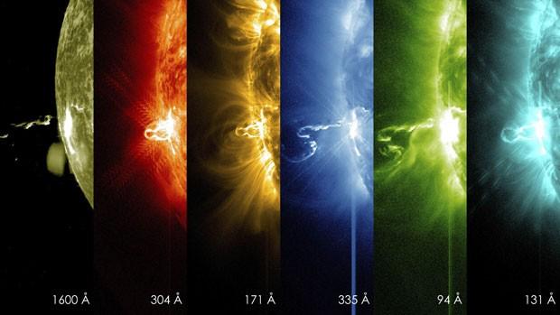 Explosão solar foi detectada por equipamento da Nasa em 28 de janeiro deste ano (Foto: SDO/Nasa/Reuters)