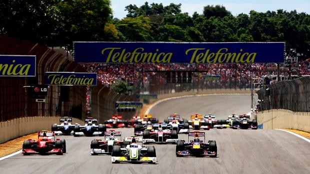 largada gp brasil (Foto: Getty Images)