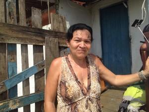 Maria Aparecida conta que sobrinho morava com ela (Foto: Marcos Antonio da Costa / Arquivo Pessoal)