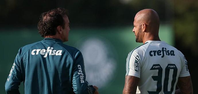 695_cuca_felipe_melo (Foto: Cesar Grego / Ag. Palmeiras / Divulgação)