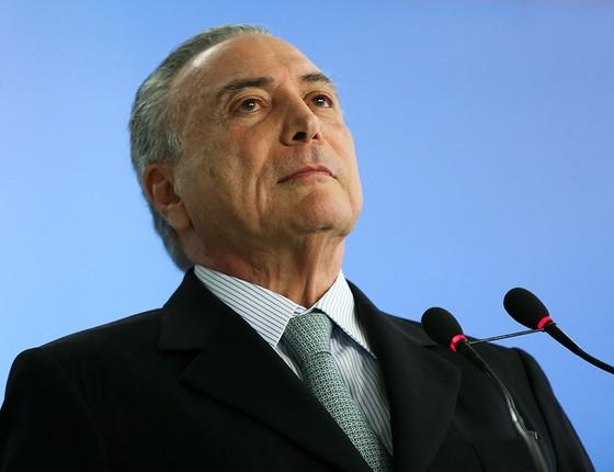Michel Temer empossa o novo ministro da Transparência, Fiscalização e Controle, Torquato Jardim  (Foto: Marcelo Camargo/Agência Brasil)