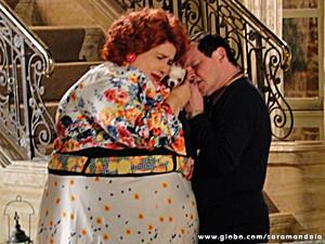 Encolheu contracena com Pingo  (Foto: TV Globo/ Saramandaia)