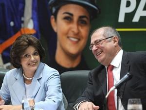 A então ministra da Casa Civil, Dilma Rousseff, afirma, em junho de 2009, que trem-bala ficaria pronto até 2013 (Foto: Roosewelt Pinheiro/Agência Brasil)