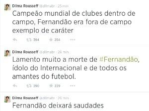 Dilma no twitter fernandão (Foto: Reprodução/Twitter)