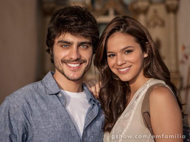 Guilherme Leicam e Bruna Marquezine serão Laerte e Helena na segunda fase de Em Família (Foto: Inácio Moraes/TV Globo)