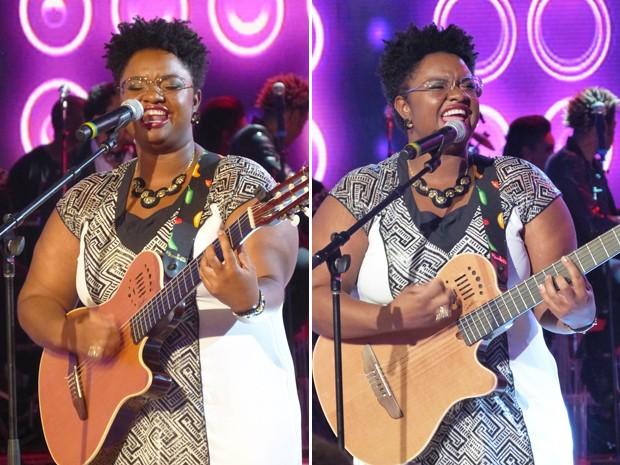 Ellen Oléria e seu violão (Foto: TV Xuxa / TV Globo)