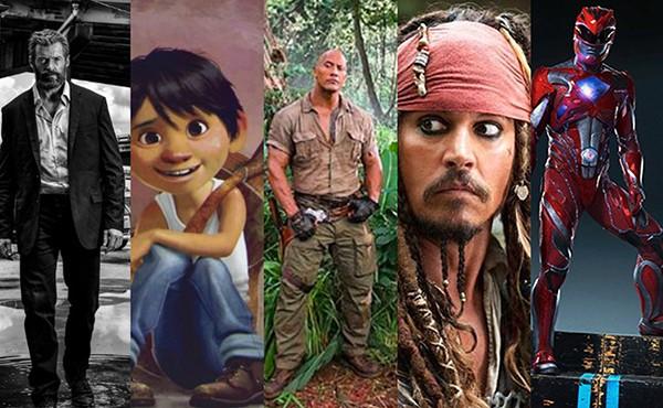 Logan, Coco, Jumanji, Piratas do Caribe, Power Rangers (Foto: Divulgação)