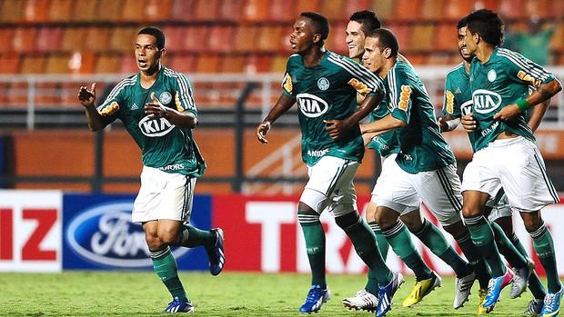 Marcelo Oliveira gol jogo Palmeiras Linense (Foto: Marcos Ribolli / Globoesporte.com)
