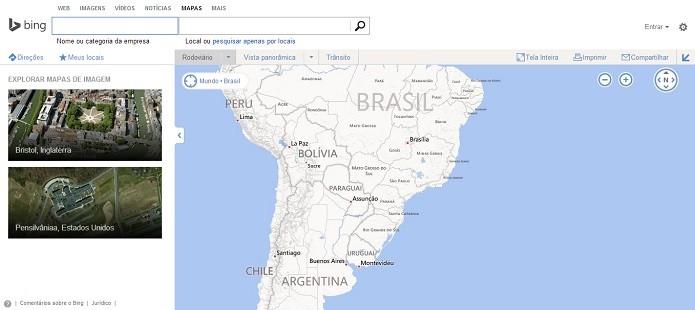 Mapas do Bing devem ganhar novos dados do Foursquare (Foto: Reprodução Thiago Barros)