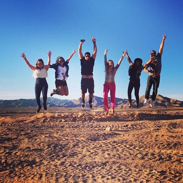 Angélica com famosos em Las Vegas, nos Estados Unidos (Foto: Instagram/ Reprodução)