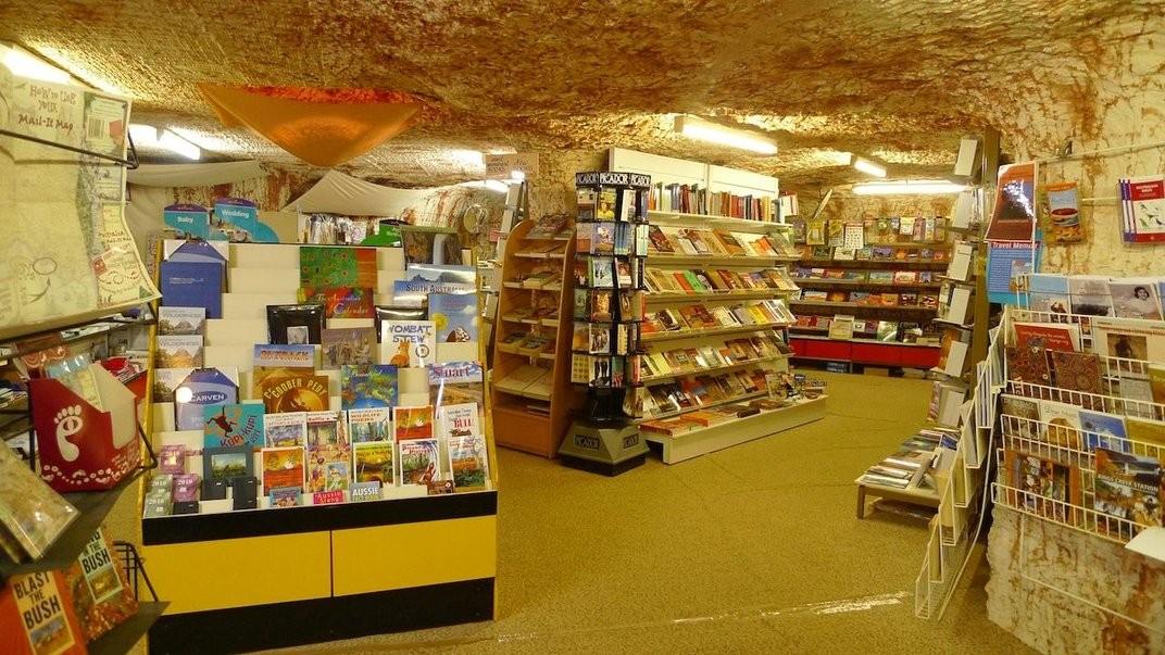 Tem até livraria abaixo da superfície da cidade (Foto: Divulgação)