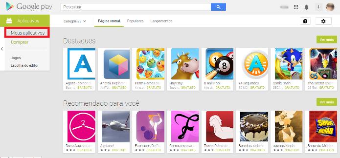 Acesso para os apps instalados anteriormente (Foto: Reprodução/Lívia Dâmaso)