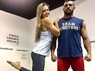 Vítor Belfort se declara a Joana Prado: 'Meu amor'