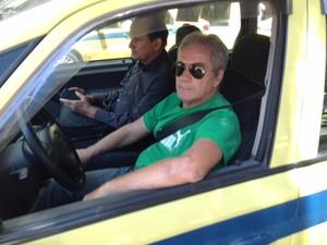 Taxista Albino Soares critica mudanças no trânsito do Centro do Rio (Foto: Mariúcha Machado/G1)