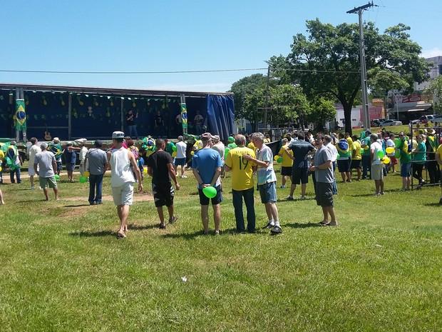 Concentração foi no Parque do Povo em Pres. Prudente (Foto: Stephanie Fonseca/G1)