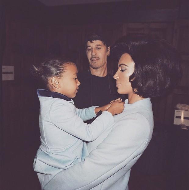 Kim Kardashian e a filha North West (Foto: Reprodução/Instagram)