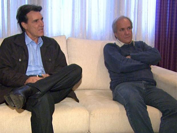João de Sarro (esq.) e Brás de Sarro tiveram os mandatos eleitorais cassados em dezembro de 2012 (Foto: Reprodução/EPTV)