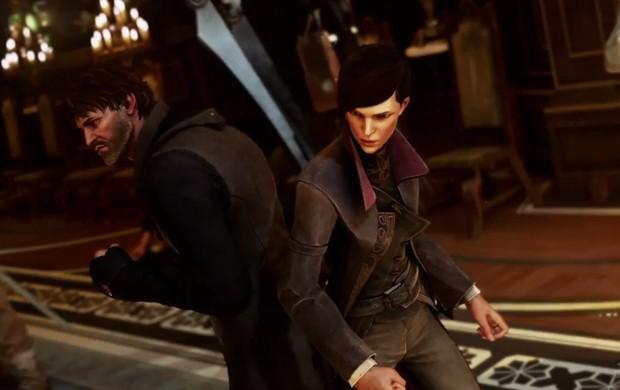 Em 'Dishonored 2', jogadores podem controlar Corvo Attano, protagonista do jogo original, ou sua filha Emily Kaldwin (Foto: Divulgação)
