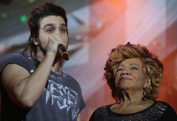 Luan e Alcione no ensaio (Foto: AgNews / Anderson Borde)