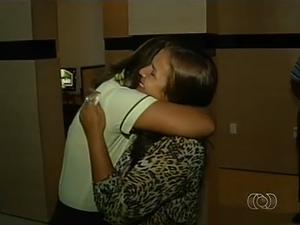 Filha encontra a mãe, em Palmas, depois de 25 anos de procura (Foto: Reprodução/TV Anhanguera)