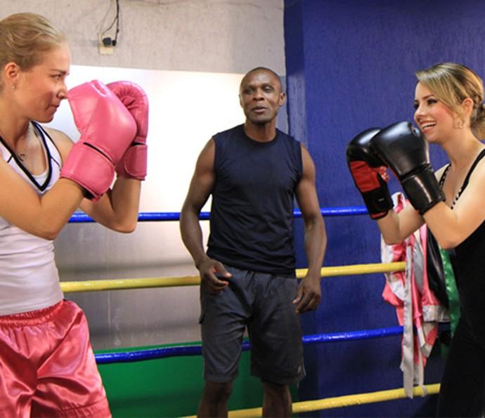 Sandy mostra habilidade no boxe (Foto: CEDOC/TV Globo)