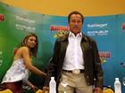 Arnold Schwarzenegger participa de coletiva no Rio