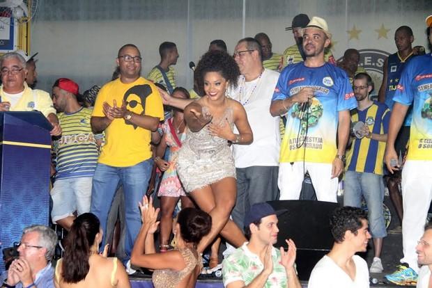 Juliana Alves no ensaio da Unidos da Tijuca (Foto: Thyago Andrade/ Ag. Brazil News)