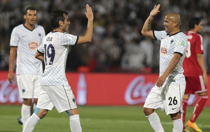 Delgado e Humberto gol monterrey (Foto: EFE)