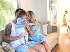 Adriana Sant'Anna, Rodrigão e o filho aparecem em foto fofa de pijama