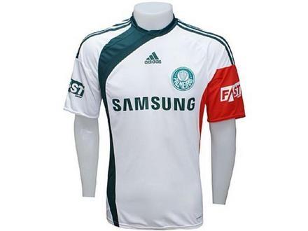 79c14f14c86ef Nova camisa reserva do Palmeiras volta a ter detalhes verde e ...